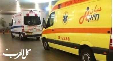 ابو سنان: اصابة شاب في حادث دراجة نارية