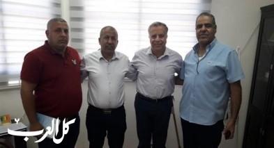 جلسة عمل بين ظاهر ورئيس مجلس الزرازير