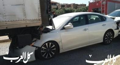 اصابات بحادث طرق على مدخل كفرمندا