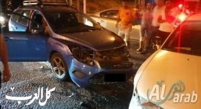 اصابة شخص في حادث طرق على شارع 65