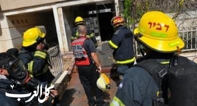 إصابة سيدة بإندلاع حريق داخل منزل في شفاعمرو