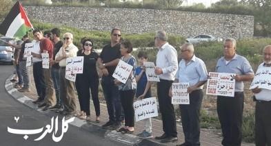 تظاهرة حاشدة على دوار الرينة المشهد لنصرة غزة
