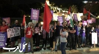 حيفا: تظاهرة حاشدة تضامنا مع غزة وضد الشرطة