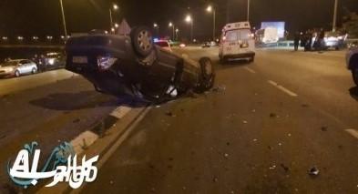 اصابة شخص بجراح متفاوتة في حادث طرق بين الرامة وبيت جن