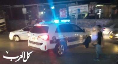 كفركنا: تحطيم سيارة شرطة واعتقال 3 شبان