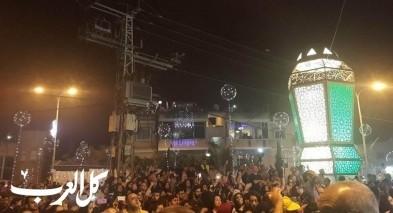 شفاعمرو: الاحتفال بإضاءة الفانوس الرمضاني الضخم