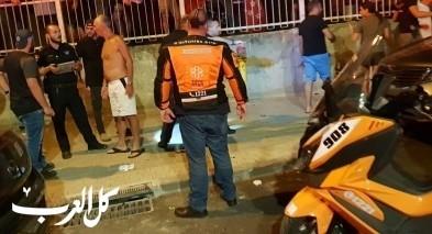 اصابة شاب بجراح خطيرة بعد انفجار دراجة نارية