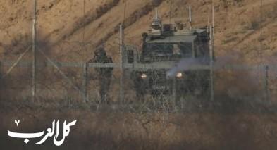 تسلل فلسطينيين من غزة واحراق مواقع عسكرية واسرائيل تقصف اهدافًا تابعة لحماس