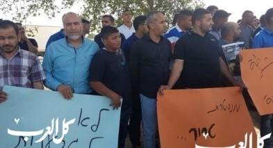 مظاهرة في رهط احتجاجا على تعامل الشرطة