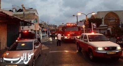 عكا: إندلاع حريق داخل فندق صغير