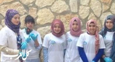 طالبات ثانوية خديجة في أم الفحم بفعاليات بيئية