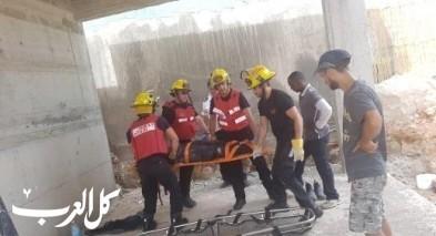 انقاذ شخص علق داخل حفرة قرب كرمئيل