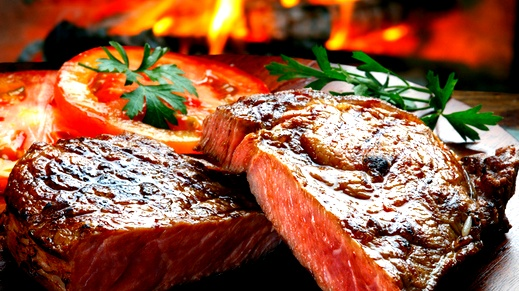 طريقة عمل لحم الريش المشوي