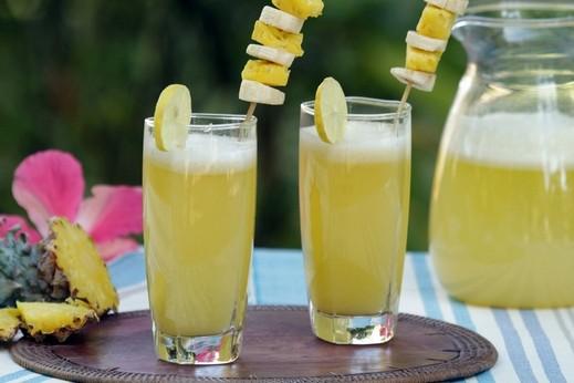 عصير الليمون الهندي والأناناس الصحي