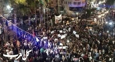 المئات في رام الله يطالبون برفع العقوبات عن غزة