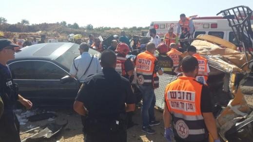 اصابات بينها خطيرة بحادث على شارع 465 بالضفة
