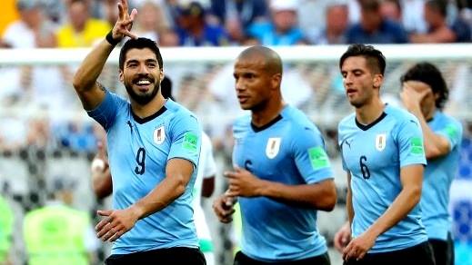 سواريز فرح بتأهل الأوروجواي الى ثمن النهائي