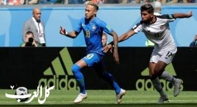 كأس العالم: البرازيل تهز شباك كوستاريكا بهدفين