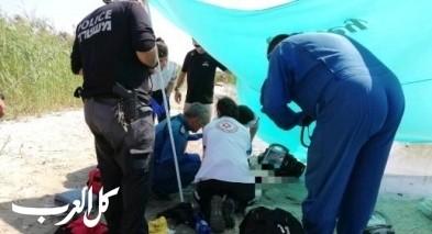 غرق طفلة على شاطئ في طبريا وحالتها حرجة