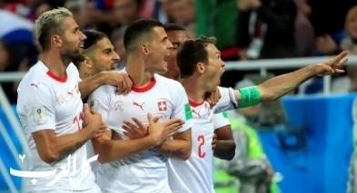 منتخب سويسرا يقتل امال منتخب صربيا في الوقت القاتل