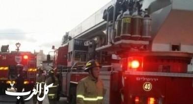 اندلاع حريق داخل مبنى في الكسيفة