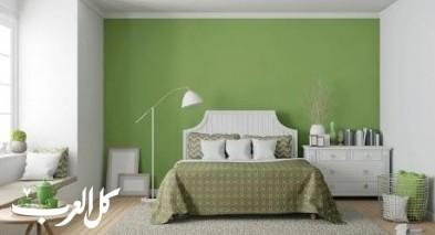 اللون الأخضر في ديكورات غرف النوم