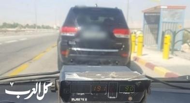 الضفة: اعتقال سائق قاد سيارته بسرعة 191 كم/ ساعة