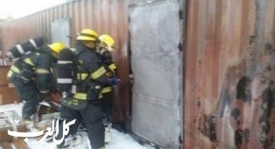 حريق في مخزن للغاز في جولس والاطفاء يسيطر عليه