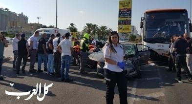 اصابة شابة من نحف بحادث طرق قرب عكا
