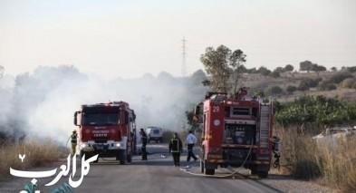 حريق بمنطقة البانياس والطواقم تعمل على إخماده