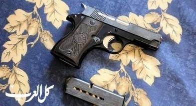 ضبط مسدس ومختبر مريحوانا في المركز