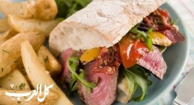 ساندويش روست بيف على طريقة مطبخ العرب