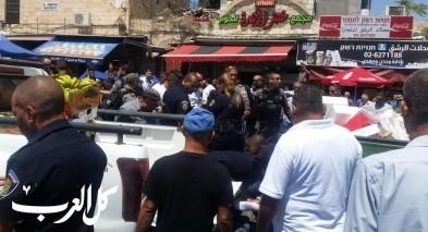 عشية عيد الأضحى: بلدية القدس تصادر بسطات مواطنين عرب وسط غضب كبير