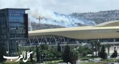 طيرة الكرمل: اندلاع حريق في قاعدة عسكرية