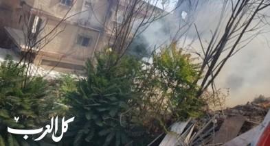 الناصرة: اندلاع حريق في السوق القديم دون وقوع اصابات