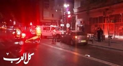 إصابة شاب بحادث طرق في تل أبيب