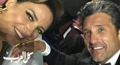 ريهام تغازل النجم العالمي باتريك ديمبسي وتصوره خلسة