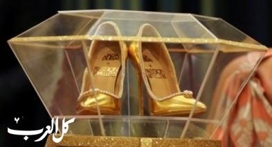 حذاء مرصع بالألماس للبيع بمبلغ خيالي!