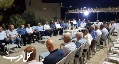 اللجنة الشعبية في كفركنا تزور عائلة شهيد هبة القدس
