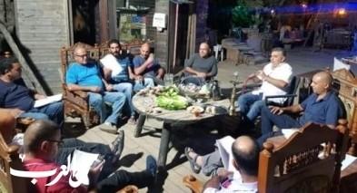 إقامة اجتماع لقائمة المرشحين عين رافا قريتنا