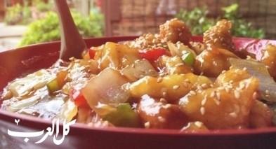 دجاج بالصلصة على الطريقة الصينية