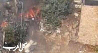 أم الفحم: اندلاع حريق كبير في حي الشاغور