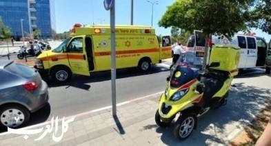 حيفا:اصابة مسنة بجروح متوسطة اثر تعرضها للدهس
