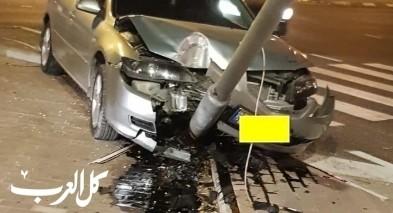 اصابة شخصين بحادث طرق في منطقة وادي عارة