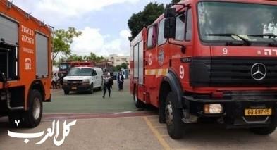 بيت جن: اندلاع حريق داخل سيارة