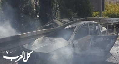 اندلاع حريق داخل سيارة في القدس