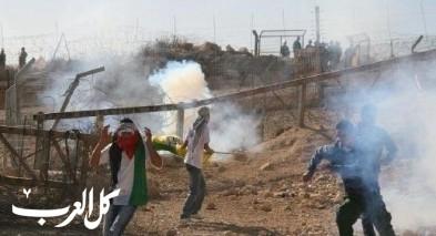 الشرطة تفرق مواجهات في نعلين: القاء حجارة واشعال اطارات