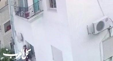 العزير: توثيق لحظة سقوط طفلة من الطابق الثالث