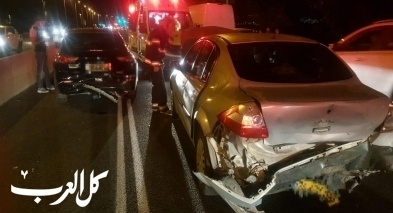 حادث طرق على شارع 85 يسفر عن إصابة 3 أشخاص