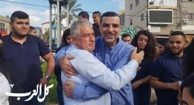 المرشحان دياب وابو رومي يوزعان نشرة لنبذ العنف في طمرة